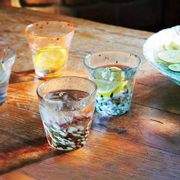 ADERIA 津轻 Tsugaru  Vidro 手工锤目纹金箔玻璃茶杯 300ml 亚马逊海外购