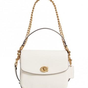 COACH Cassie 白色真皮包包 特价$221.25(¥1781.06)