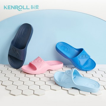 69元包邮!防滑专利:Kenroll 科柔 经典宽楦型浴室防滑拖鞋KM066
