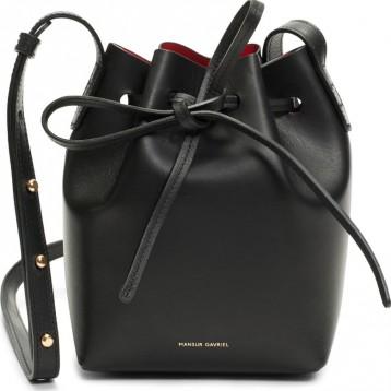 MANSUR GAVRIEL Mini Mini 黑色真皮水桶包 特价$348.75(¥2807.44)