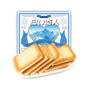 55元拍2件!日本进口 北海道名吃 白色恋人 白巧克力夹心薄饼 12片