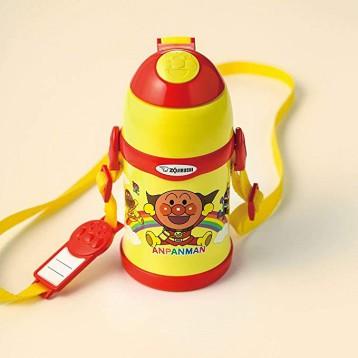 134.89元日本直邮!Zojirushi 象印 面包超人 不锈钢保冷儿童吸管水杯450ml