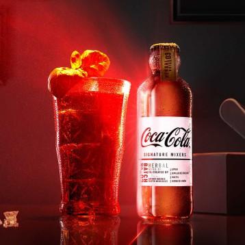 53元包邮!铁粉入:法国进口 可口可乐CocaCola【收藏版】Signature Mixer 调酒可乐 4瓶装