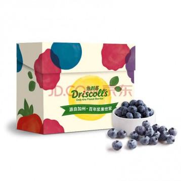 16元/盒!Driscoll's 怡颗莓 当季云南蓝莓原箱12盒装 约125g/盒