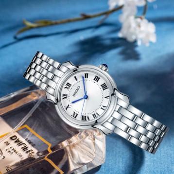886.71元美国直邮!SEIKO 精工 SRZ519 女士石英简约手表(国内同款1440元)