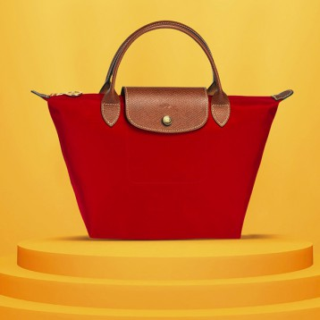 LONGCHAMP 珑骧 大号长柄 Le Pliage女士购物袋饺子包 经典款 亚马逊海外购