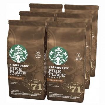 279.89元英国直邮!STARBUCKS 星巴克 Pike Place 中度烘焙咖啡豆(200g*6包)