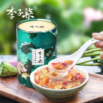 新低49.70元包邮!超好吃的坚果藕粉:李子柒 桂花坚果有点脆藕粉