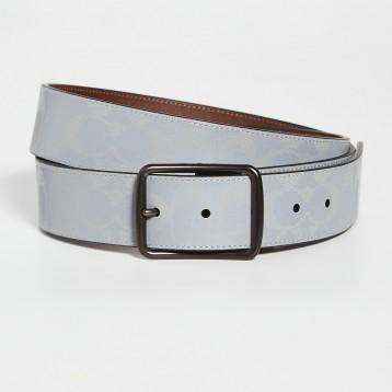 Coach New York 饰带反光标志性腰带 38mm 特价$105(¥861)