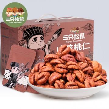 68元包邮【新货】三只松鼠 临安山核桃仁 500g(30小袋)