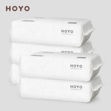 日本HOYO 一次性双面洗脸巾棉柔巾80抽*5包