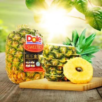 菲律宾进口,都乐 金菠萝 2只(单果1500g左右)