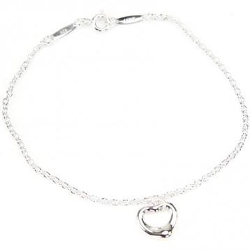 Tiffany & Co 蒂芙尼 Elsa Peretti® 系列 Open Heart 女士纯银手链 亚马逊海外购