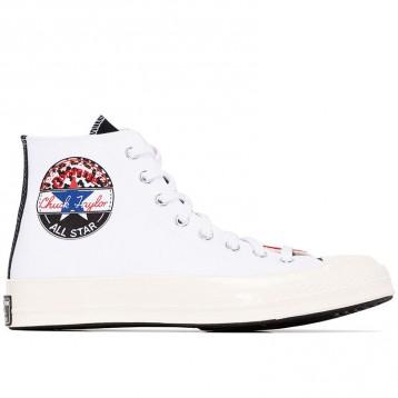 新低价¥567元包税!CONVERSE匡威 厚底拼接高帮帆布板鞋 中性款款
