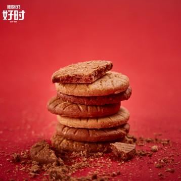 24.90元包邮!好时 巧克力牛奶燕麦饼干组合装 400g