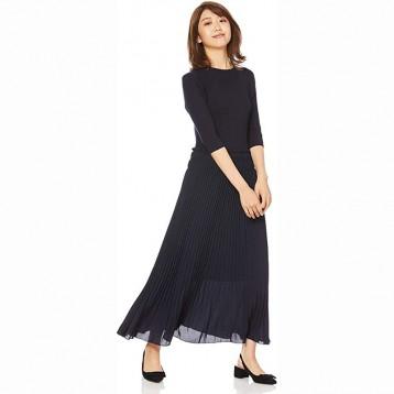 日本品牌 SNIDEL 百褶针织连衣裙 两色均码 日本直邮