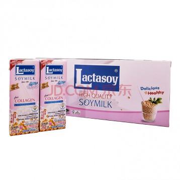 泰国进口,Lactasoy 力大狮 调制豆奶 低糖 250ml*12盒
