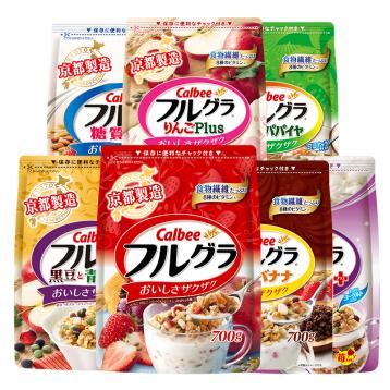 89元任选2大包!日本进口 卡乐比水果麦片 营养谷物早餐600g/700g装(7种口味)