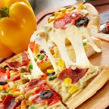 58元包邮!实体店同款:小牛凯西 7英寸披萨家庭套餐5人份 送滚刀
