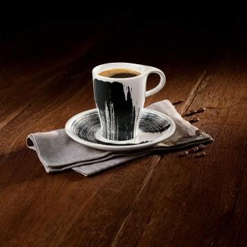 Villeroy & Boch 德国唯宝 浓情咖啡·唤醒 水墨风咖啡杯碟2件套220mL