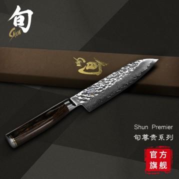 999元包邮!KAI 贝印 Shun Premier 旬尊贵系列 TDM-0702 大马士革钢厨刀+赠厨房工具3件套