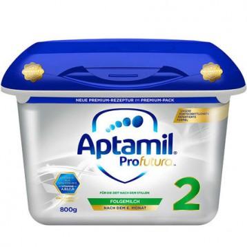 €55欧元包税包邮!奥地利版 Aptamil 爱他美 白金版婴幼儿奶粉 2段 6月+ 800gx2桶