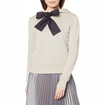¥855.07日本直邮!DOUBLE STANDARD CLOTHING 蝴蝶结连帽卫衣0208-170-201 女款
