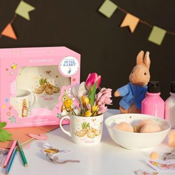 WEDGWOOD 玮致活 彼得兔玩趣系列 骨瓷杯碗儿童餐具套装亚马逊海外购