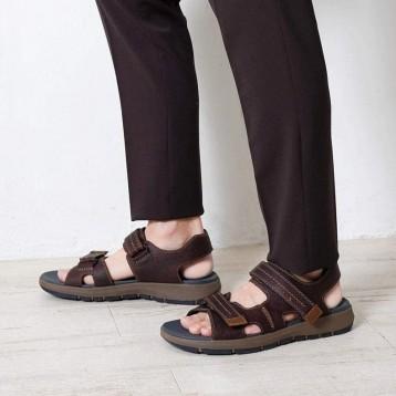 363.56元德国直邮!2020年新款 Clarks 其乐 Brixby Shore 男士时尚运动凉鞋 (天猫折后1019元)