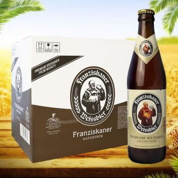 88元包邮!德国品牌Franziskaner范佳乐教士小麦白啤酒450ml*12瓶