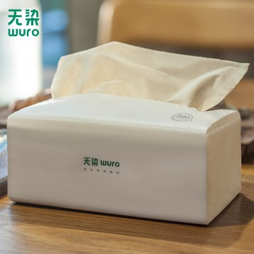 小米众筹款,Wuro 无染 竹浆本色抽纸 3层100抽*30包