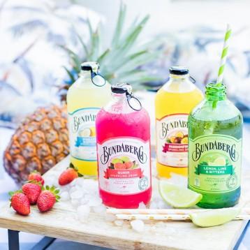 97元包邮!澳洲进口 宾得宝(Bundaberg)含气果味气泡水 7口全家福+多送1瓶