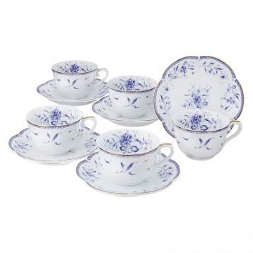 NARUMI 鸣海 靛蓝陶瓷杯碟10件套亚马逊海外购