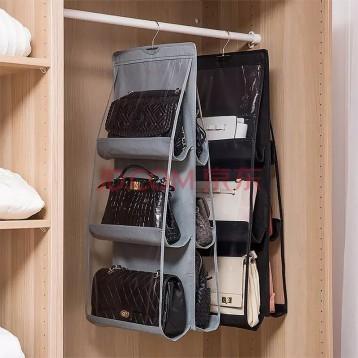 10.90元包邮!收纳神器:3层6格,包包收纳挂袋 衣柜整理挂袋(颜色随机)