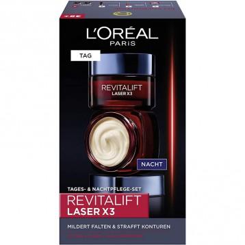 204.11英国直邮!L'Oréal Paris欧莱雅 Revitalift Laserx3 复颜光学紧致嫩肤去皱套装