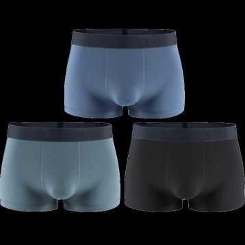 69元包邮!Kappa 卡帕 KP9K11 男士冰丝50S超细莫代尔棉平角内裤3条组