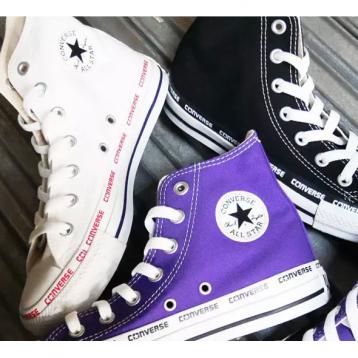 261.32元日本直邮!Converse匡威 All Star 帆布运动鞋 Logo Foxing HI(22-30cm 黑白紫三色)