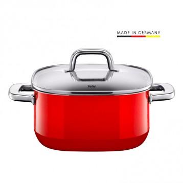 Silit 喜力特 德国产 Quadro系列 希拉钢 红色汤锅 4.4L 亚马逊海外购