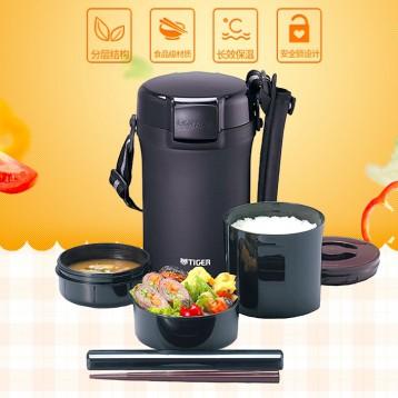 TIGER 虎牌  LWU-A202 日式3层分格不锈钢保温饭盒 亚马逊海外购