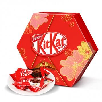 临期19元包邮!kitkat 雀巢奇巧 混合口味威化巧克力六角礼盒装240克