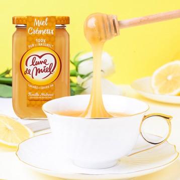 58.8元包邮包税!法国进口 Lune de miel 蜜月 无添加百花晶蜜375g*2瓶