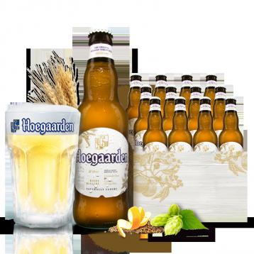 79元包邮!Hoegaarden 福佳 比利时风味精酿小麦白啤酒330ml*12瓶