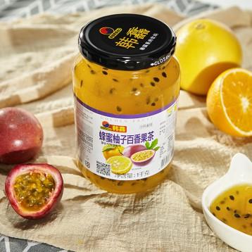 81.80元包邮!韩国进口 韩馫 蜂蜜柚子百香果茶1000g