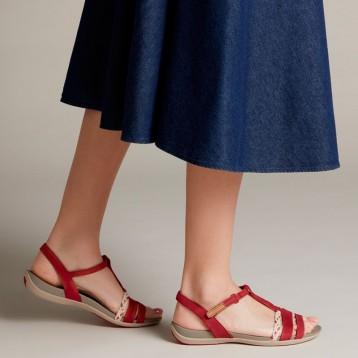 Clarks 其乐 Tealite Grace 女士真皮平底凉鞋 亚马逊海外购
