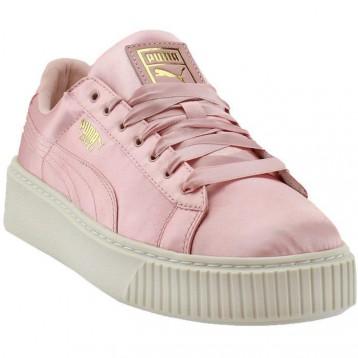 【包邮包税】PUMA 彪马 Basket Platform Satin 蕾哈娜二代丝绸松糕女子运动板鞋 37.5码 脚长23.5cm可穿