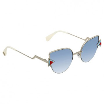 【包邮包税】Fendi 芬迪 蓝色透明渐变猫眼太阳镜 FF0242/S