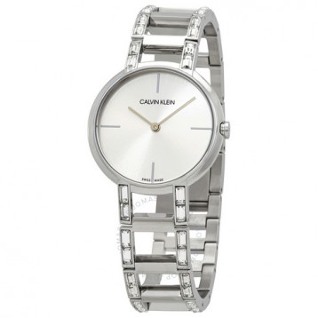 【包邮包税】Calvin Klein 卡尔文·克雷恩 Cheers 系列 银色女士时装腕表 K8NY3TK6 1.6折+免官网运费