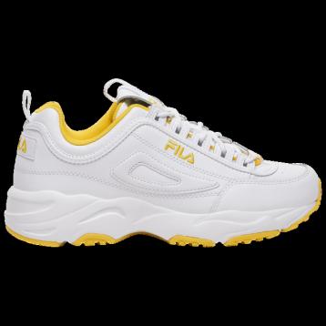 【包邮包税】自家联名款 Fila Disruptor II X Ray Tracer -白黄 男士老爹鞋 43码 脚长28cm可穿