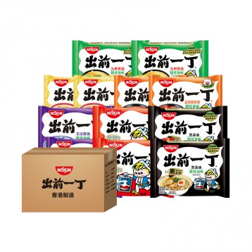44.90元包邮!香港日清:出前一丁方便面 6口味12包组合