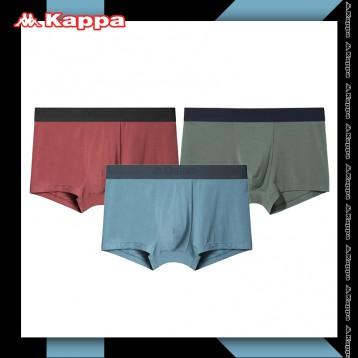 59元包郵!Kappa 卡帕 KP9K11 男士冰絲50S超細莫代爾棉平角內褲3條組